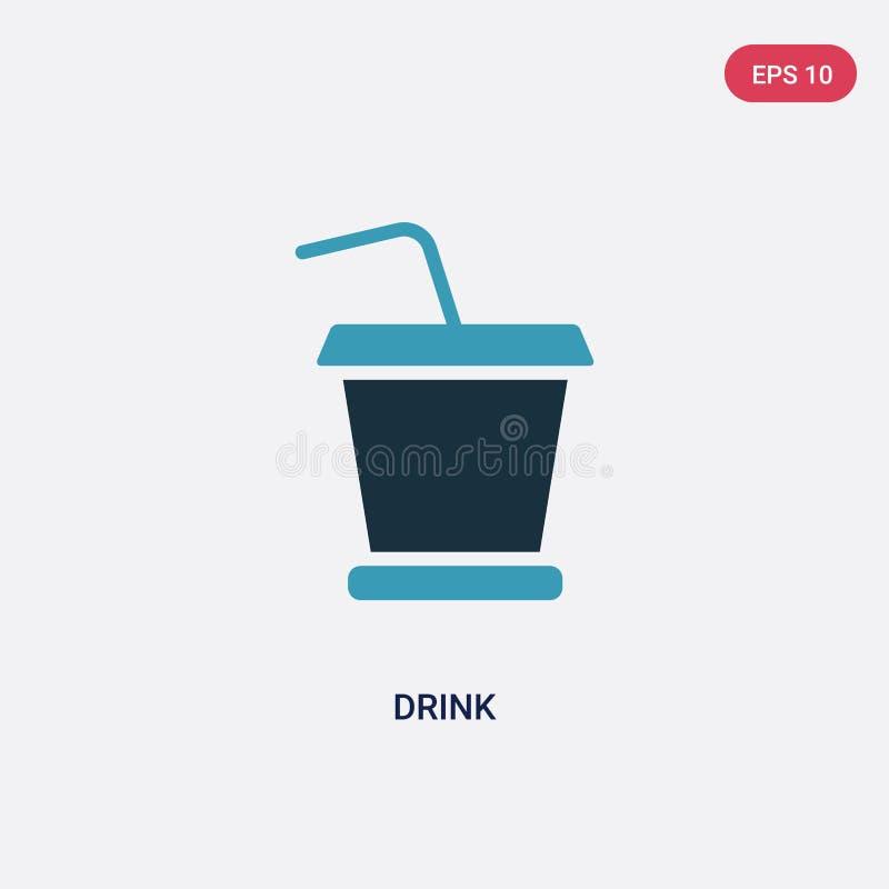 从符号概念看双色饮料矢量图标 独立的蓝色饮料矢量标志符号可用于Web、移动和标志 每股10 库存例证