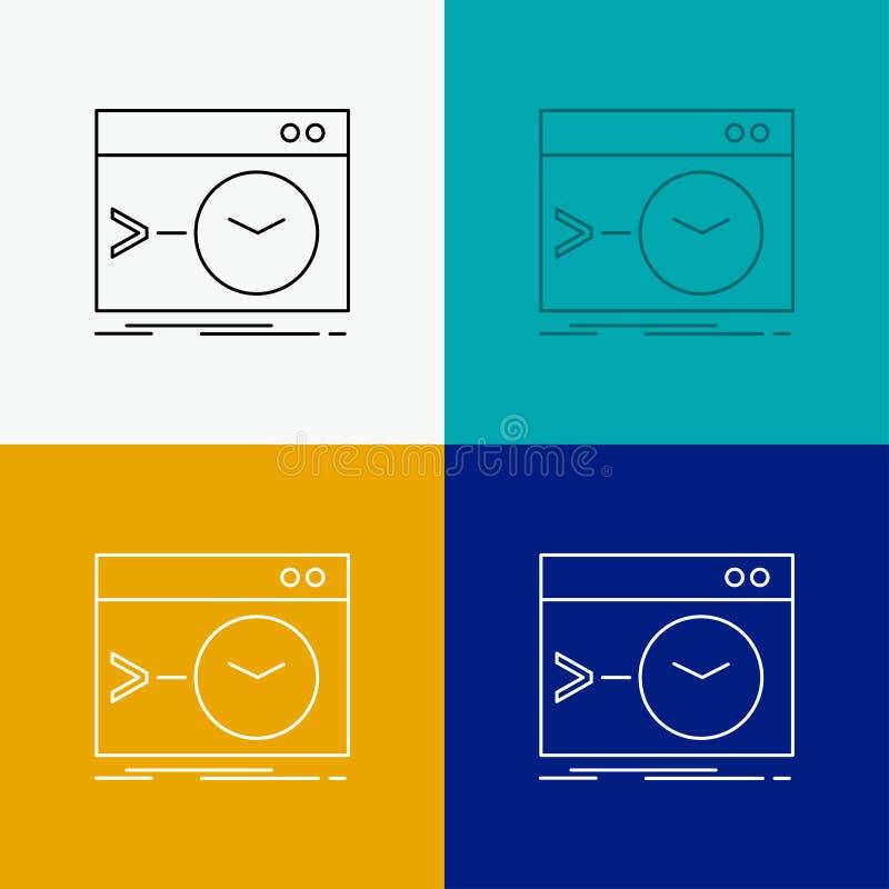 Admin, bevel, wortel, software, eindpictogram over Diverse Achtergrond Ontwerp van lijnstijl, ontworpen voor web en app EPS 10 ve vector illustratie