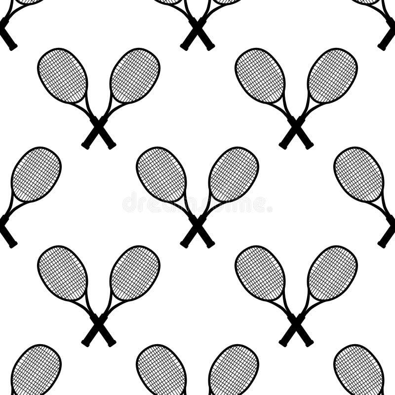 Raqueta de tênis, ilustração vetorial Design de tênis sobre fundo branco Esporte, aptidão, concepção do vetor de atividade Padrão ilustração royalty free