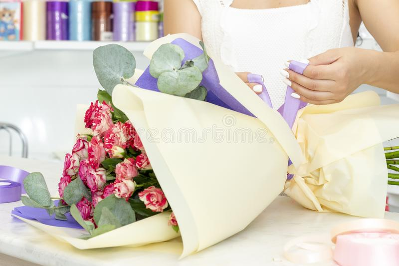 E r Floristry biznes obraz royalty free