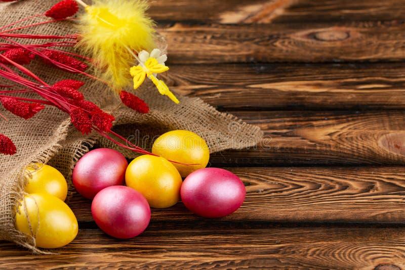E r Fundo com ovos de Easter foto de stock