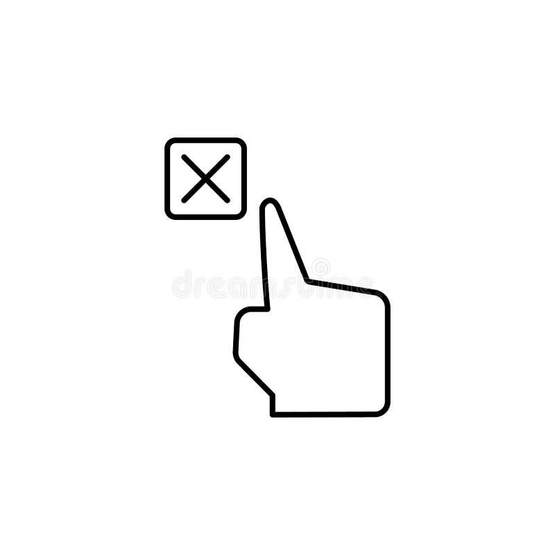 Borttagnings annullering, handlagsymbol Beståndsdel av korruptionsymbolen G?r linjen symbol p? vit bakgrund tunnare vektor illustrationer