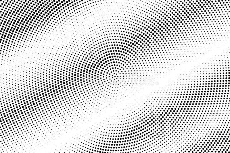 E r Gestreepte dotworkoppervlakte Langzaam verdwenen gestippelde halftone stock illustratie