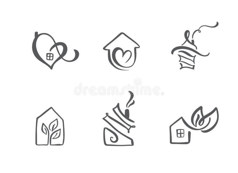 E r Godsarkitekturkonstruktion f?r design konst vektor illustrationer