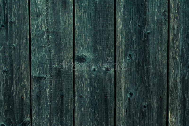 Bakgrund för gammal mörkgrön trästruktur Mörkblå plank, trävägg Strålning av grått träskivor Retro-ett abstrakt mönster med shabb royaltyfria bilder