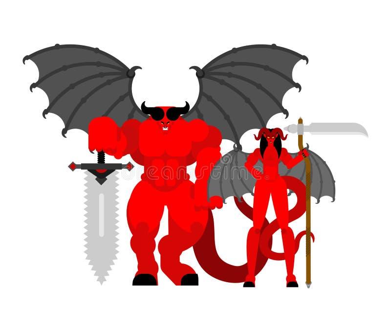 E r r Guerreiros do inferno ilustração do vetor