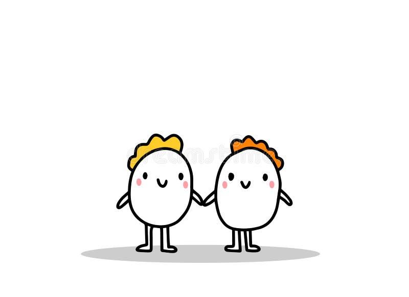 Famiglia omosessuale omosessuale Tipo di relazioni Figura vettoriale Minimo fumetto immagine stock