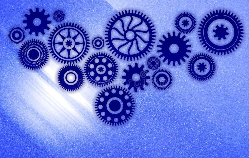A tecnologia engrenada a integração de fundo fundo do banner de tecnologia ilustração vetorial ilustração royalty free