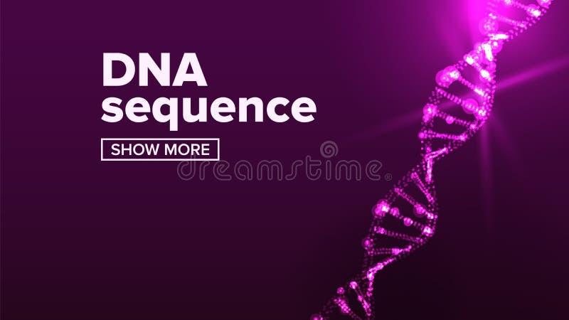 Wektor struktury Dna Chromosom zdrowy Element mikroskopowy Ilustracja ilustracji