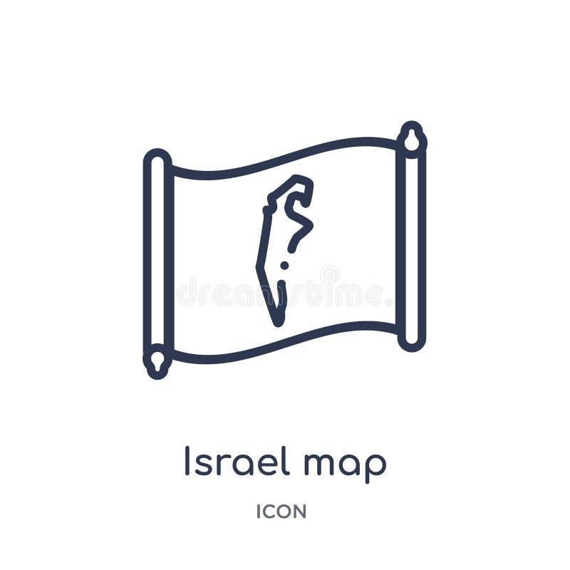 E r Israel översikt stock illustrationer