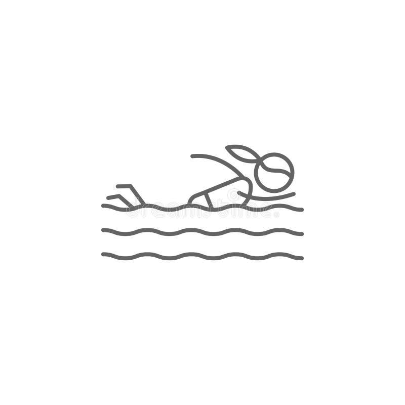 Icono de Swimsuit Icono de elemento de aventura Icono de línea delgada para diseño y desarrollo de sitios web, desarrollo de apli ilustración del vector