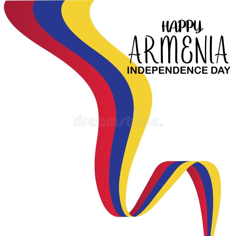 Joyeux modèle de vecteur de la fête de l'indépendance de l'Arménie Conception de bannières, de cartes de voeux ou d'imprimés Fête illustration libre de droits
