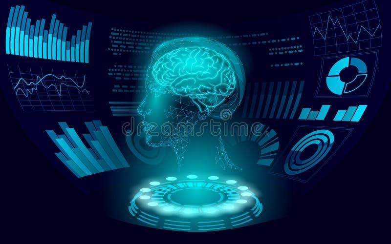 Teknik för virtuella HUD-användarskärmar Stöd för artificiella underrättelserobotar för AI Chatbot Kvinnan royaltyfri illustrationer