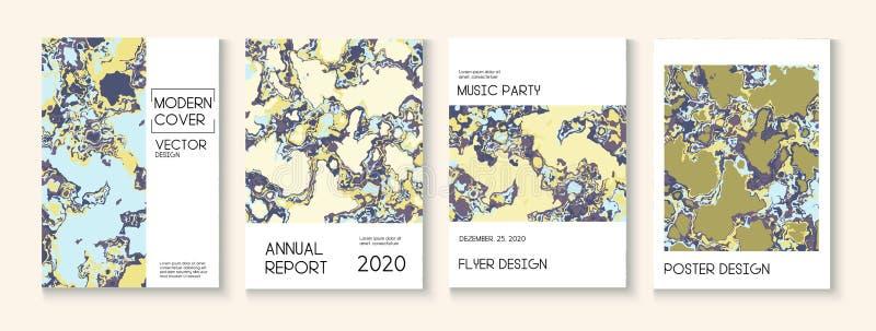 Пластиковая заливка, макет векторной обложки векторной текстуры Журнал Trendy Magazine, шаблон музыкального плаката Экологический иллюстрация вектора