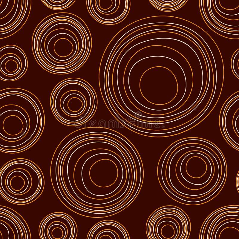 抽象的非对称圆无缝图案 澳大利亚原住民装饰 矢量颜色图示 皇族释放例证