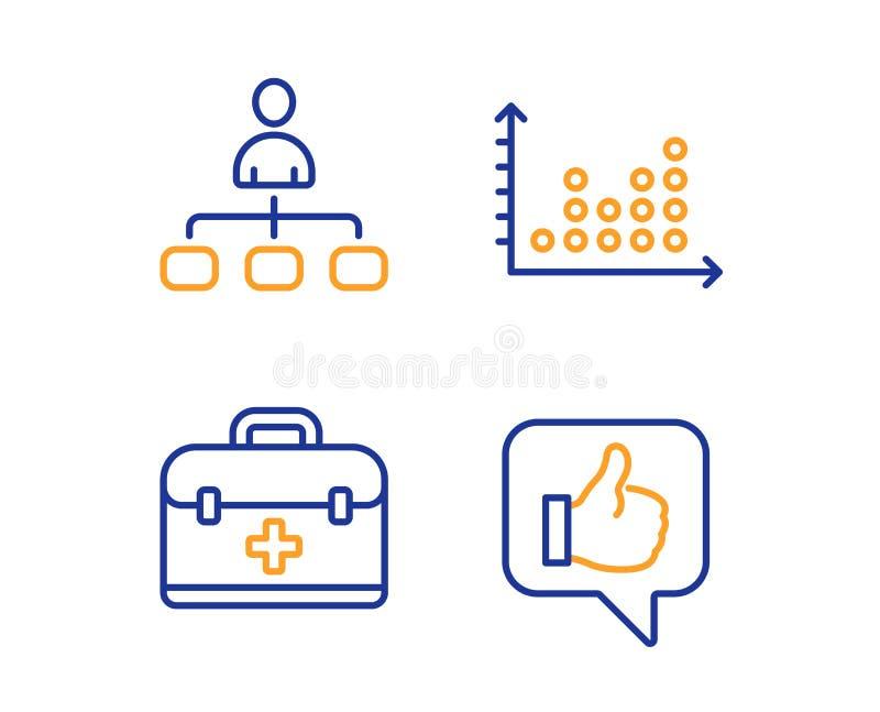 管理、点图和急救图标集 类似符号 代理,演示图,医案 竖起大拇指 矢量 向量例证
