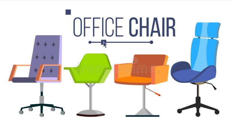 Vector meubelstoelen Thuis, Office-objecten Intern element ontwerpen Moderne geïsoleerde vlakke illustratie royalty-vrije illustratie