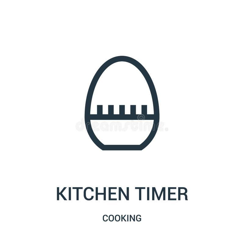 διάνυσμα εικονιδίου χρονομέτρου κουζίνας από συλλογή μαγειρικής Εικόνα διανυσματικού εικονιδίου περιγράμματος κουζίνας με λεπτή γ διανυσματική απεικόνιση