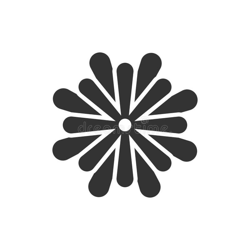 Icono de hoja de flores en estilo plano Magnolia, ilustración vectorial dahlia sobre fondo blanco aislado Concepto de negocio de  stock de ilustración