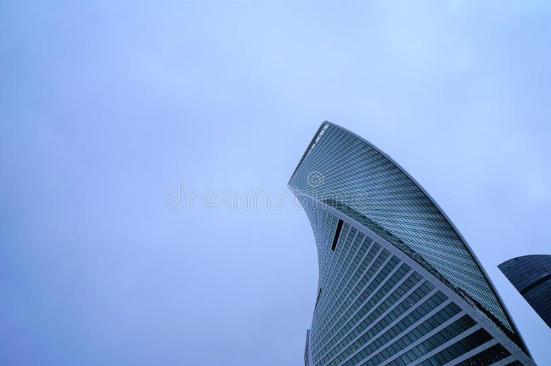 Ουρανοξύστης πόλεων της Μόσχας E στοκ εικόνα