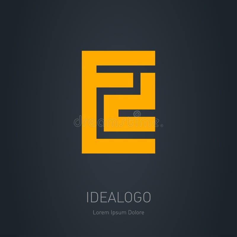 ED - элемент или значок конструктора вектора Начальный логотип E и D Исходный монограммический логотип бесплатная иллюстрация