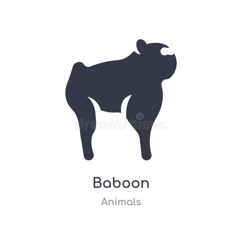 baboon εικονίδιο r editable τραγουδήστε το σύμβολο μπορεί να είναι χρήση για τον ιστοχώρο και διανυσματική απεικόνιση