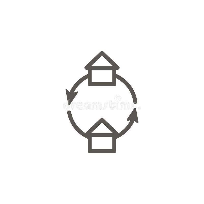 变动,交换,家,物产传染媒介象 r 变动,交换,家,物产传染媒介 向量例证