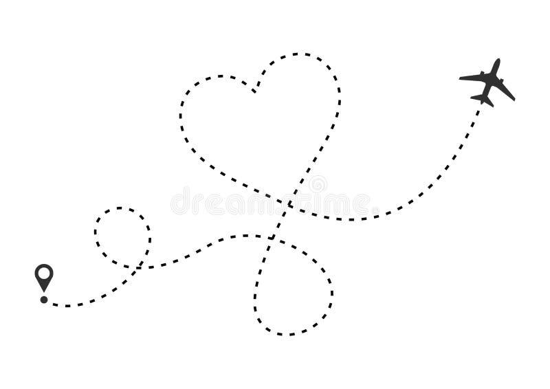 爱飞机路线 r r 库存例证