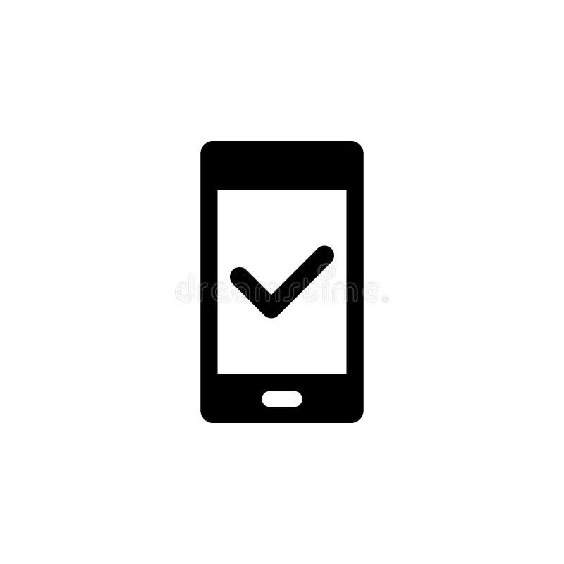 Τηλέφωνο, έλεγχος διανυσματικού εικονιδίου Εικόνα απλού στοιχείου από την έννοια του περιβάλλοντος εργασίας χρήστη Απεικόνιση δια ελεύθερη απεικόνιση δικαιώματος