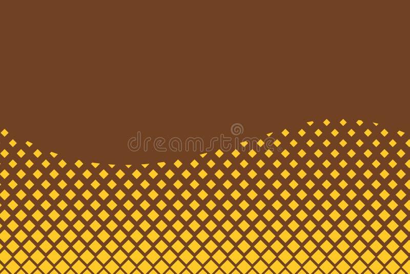Абстрактные квадратные точки шаблона фона Простые обои для баннеров, одежды, градиентный дизайн Футуристический комикс иллюстрация вектора