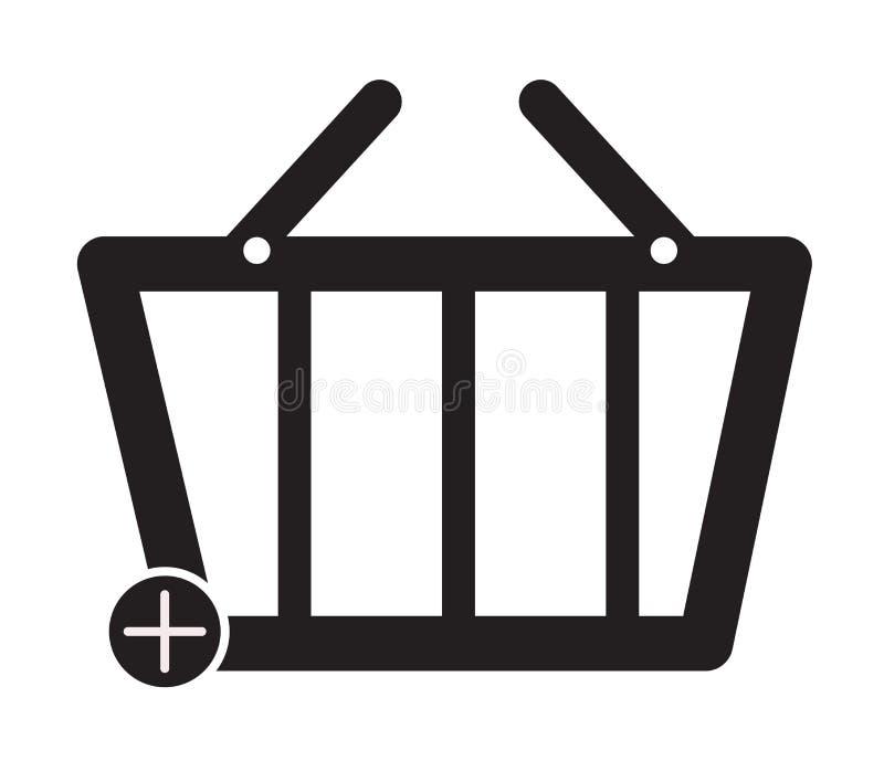 白色背景上的购物篮标志 篮子符号 平面样式 购物篮图标,用于您的网站设计、徽标、应用、用户界面 向量例证