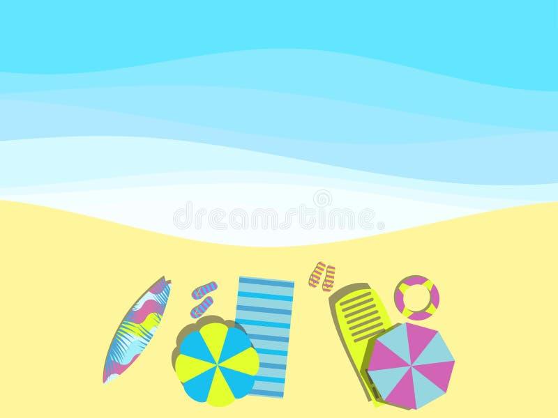 E Гостиная фаэтона с зонтиком, surfboard r Покрывало с темповыми сальто сальто r бесплатная иллюстрация