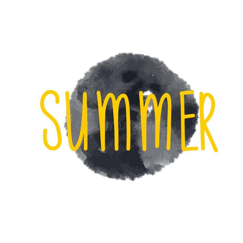Dibujo hueco del sol Símbolo vector blanco y negro Icono de doodle monocromo dibujado a mano sobre fondo blanco libre illustration
