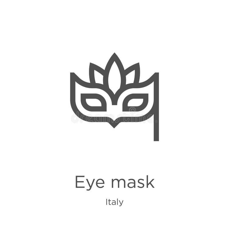 E 稀薄的线眼罩概述象传染媒介例证 概述,稀薄的线眼罩象 皇族释放例证