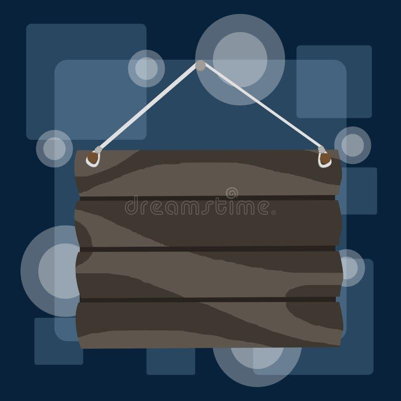 手工勾画空白标牌 自制吊带空木招牌 照片图形艺术 库存例证