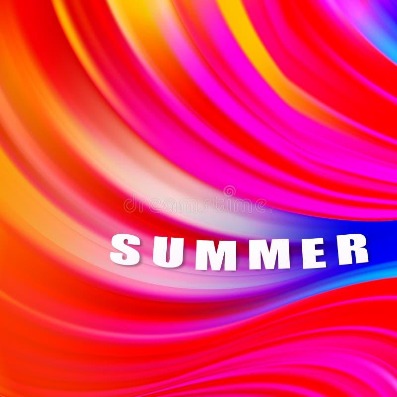 Σύγχρονη πολύχρωμη αφίσα ροής Φόντο χρώματος σχήματος κυματομορφής υγρού Σχεδίαση γραφικών για το σχέδιο σας Εικόνα διανύσματος απεικόνιση αποθεμάτων