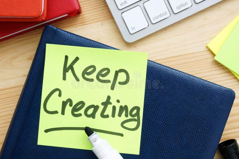 Keep创造手写在备忘录 启发行情 库存照片