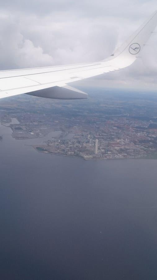 Ansicht über Malmö Schweden lizenzfreies stockbild