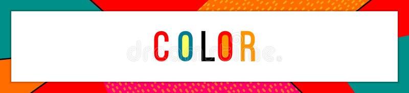 Arte de quadro de cor com branco Plano de fundo horizontal do vetor abstrato com o local do texto Faixa horizontal ampla ilustração do vetor