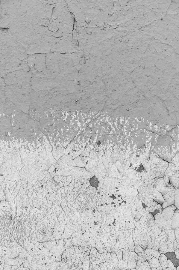 Παλιό σπασμένο χρώμα στο τσιμεντένιο τοίχωμα Ξεφλούδισμα χρωμάτων στην υφή τοίχου Πρότυπο υλικού ρουθούνι γρύλου στοκ εικόνα