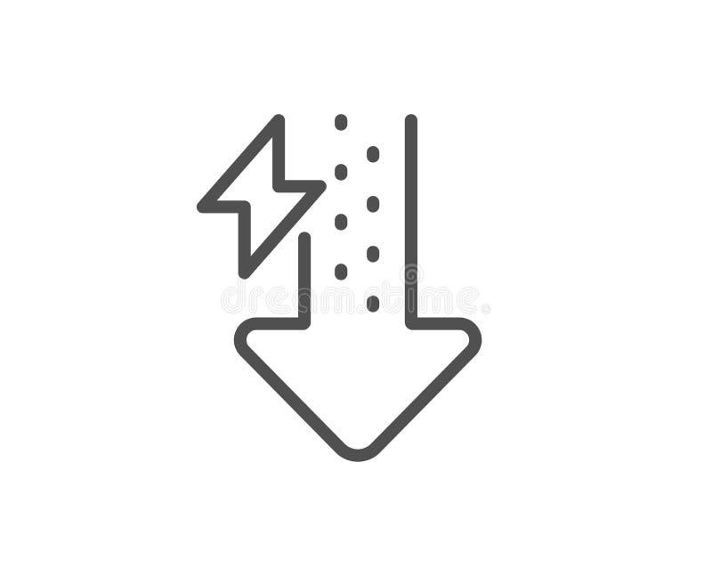能量线象 雷电标志 电力消费 ?? 向量例证