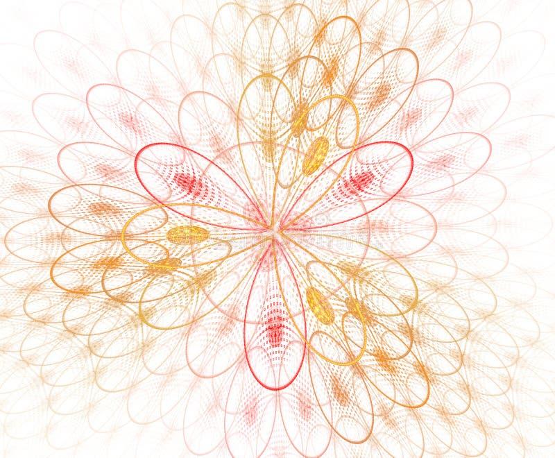 抽象色彩几何图形-图 放大的单元格背景,图像 几何、有机形式 分形花, 库存例证