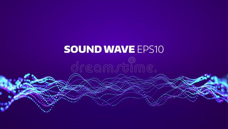 Abstrakt bakgrund för Soud vågvektor Elektronisk beståndsdelutjämnare Musikrörelsesignal stock illustrationer
