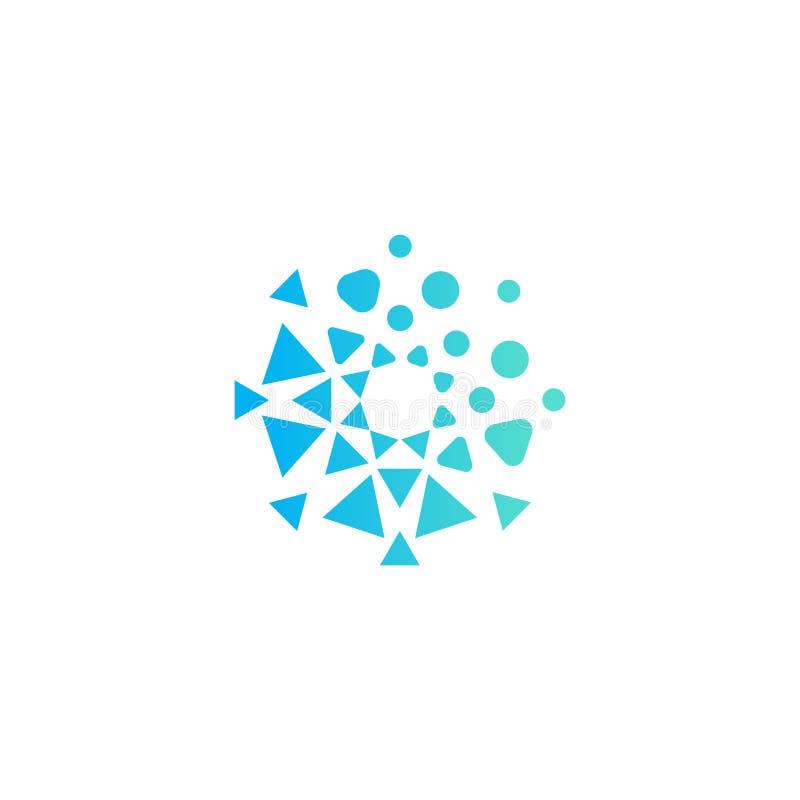 几何形状徽标模板 抽象异常圆形标志概念 网站和系统开发的理想标志 库存例证