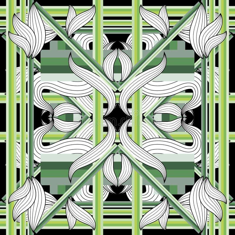 Πολύχρωμο άνθη χωρίς ραφή μοτίβο. Διακοσμητικό γεωμετρικό φόντο Î´Î¹Î±Î½ÏÏ ελεύθερη απεικόνιση δικαιώματος