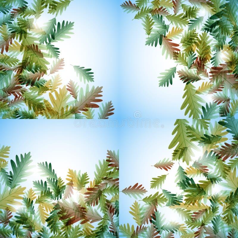 插图秋季主题 橡树叶 矢量背景 皇族释放例证