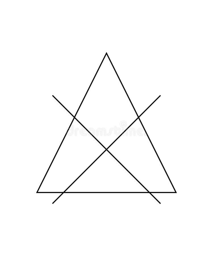 Bleka inte fläcken Korsat triangeltecken Symbol för omsorgen av kläder stock illustrationer