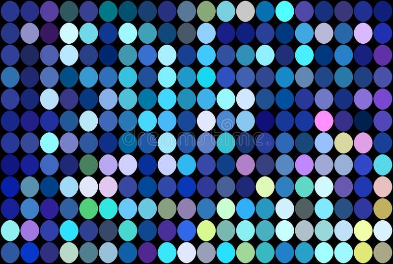 蓝色淡光马赛克背景 欢乐明亮的光例证 迪斯科聚会摘要墙纸 库存例证
