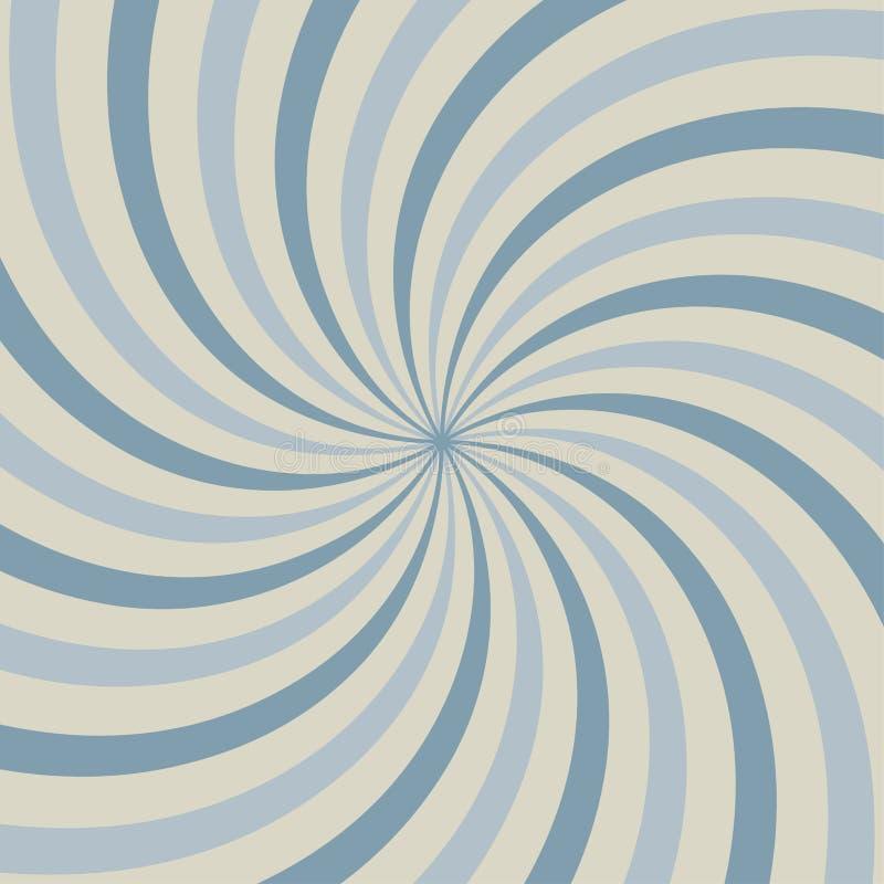 Luce solare d'annata astratta di fondo blu Stile del circo dello sprazzo di sole di carnevale per l'animazione di circonduzione V royalty illustrazione gratis