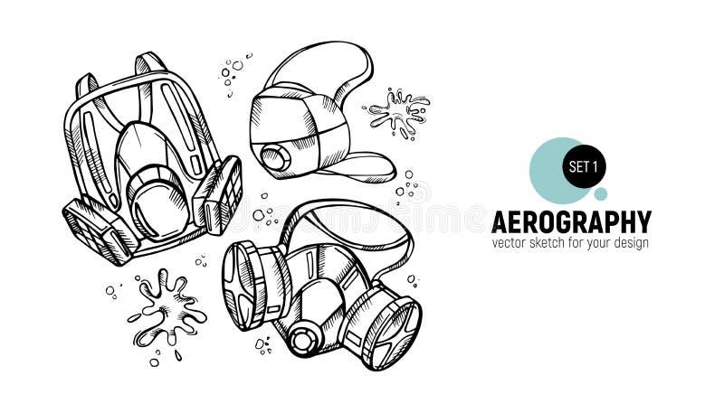 人工呼吸机的传染媒介例证 火星学工具 ?1 向量例证